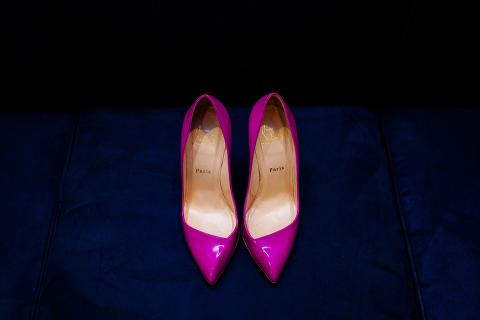 christian louboutin fuchsia shoes
