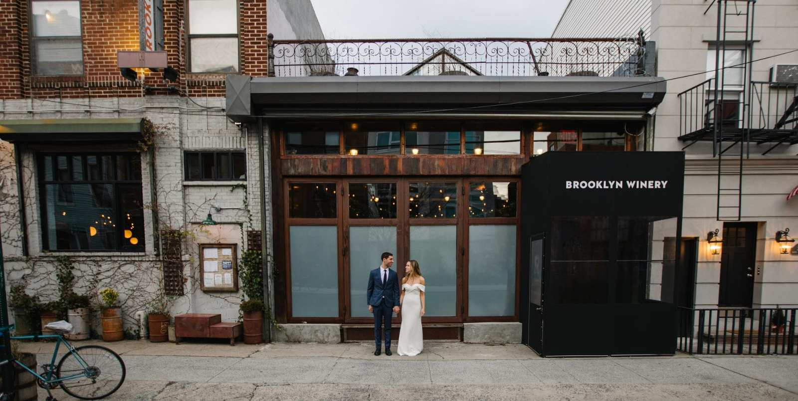 Brooklyn Winery Wedding Portrait