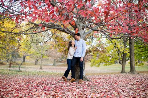 Prospect Park Engagement Photo