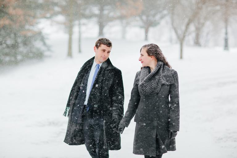 Prospect Park Snow Engagement Session