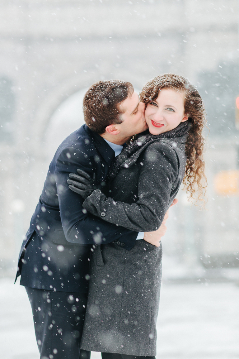 Prospect Park Snow Engagement Session