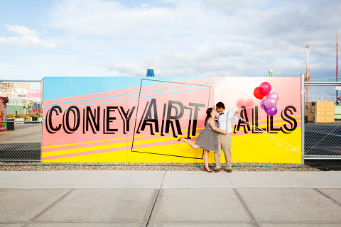 Coney Art Walls Engagement Photo