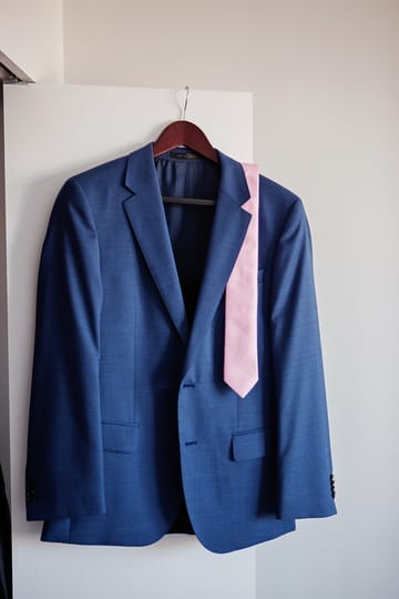 Groom's Blue Suit
