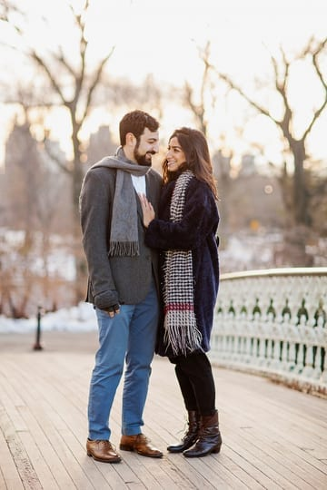 Central Park Bridge Engagement