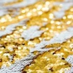 White and Gold Mermaid Sequin Photobooth Backdrop