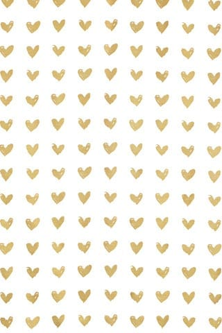 Gold Foil Hearts Photobooth Backdrop