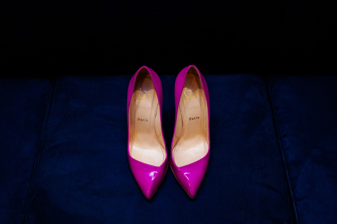 christian louboutin fuchsia shoes