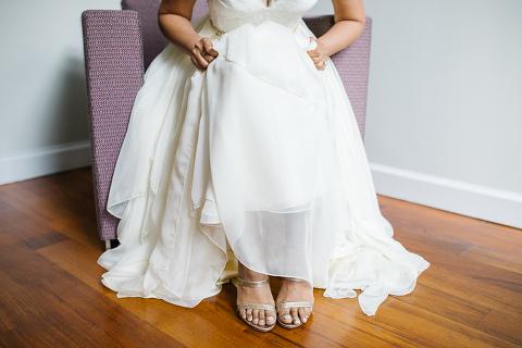 bride gold shoes