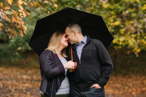 Engagement Session on Rainy Day