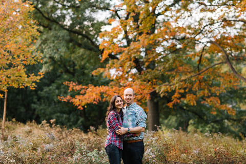 Fall Engagement Session in Central Park
