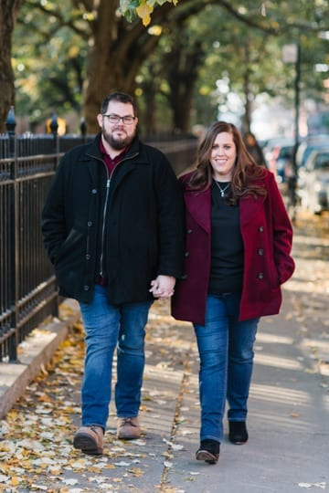 cobble hill park engagement photos