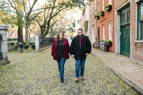 fall engagement session in cobble hill