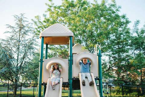 Scenic Hudson Park Engagement Photos