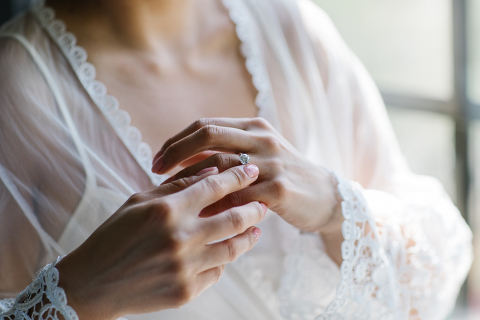 bridal lingerie ring shot