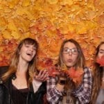 Custom Fall Leaves Photobooth Backdrop