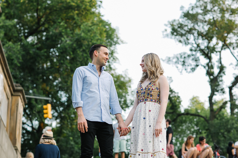 Sunset Engagement Central Park