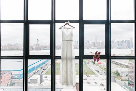 wythe hotel wedding dress photo